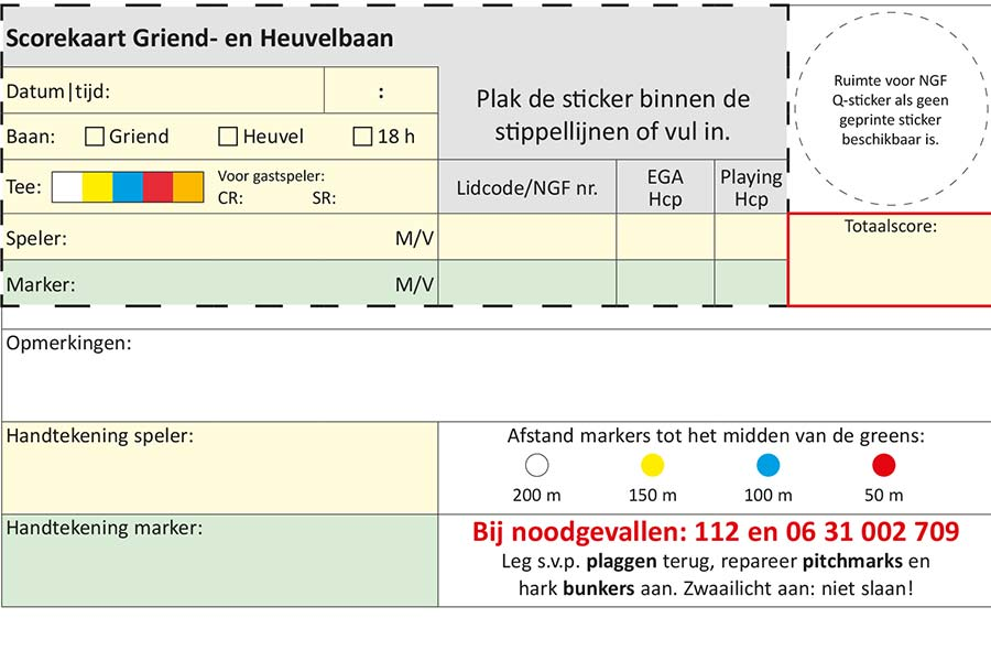 Lay-out Griend- Heuvelbaan