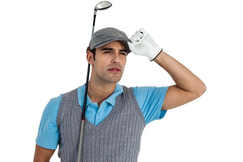 zoekende golfspeler