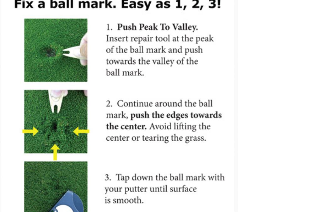 Repareer uw pitchmarks